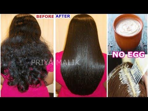 NO EGG- Hair Smoothening At Home ~ Get Smooth, Shiny, Straight Hair Naturally | Priya Malik