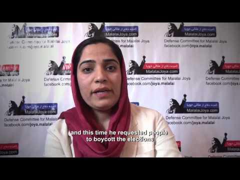 Malalai Joya's stand on Afghan election 2014
