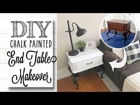 diy-end-table-makeover-|-stenciled-top-design