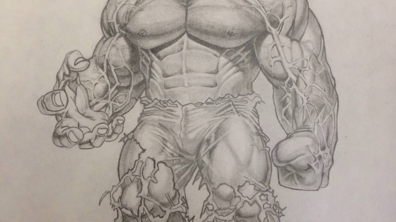 Pencil Sketch Hulk