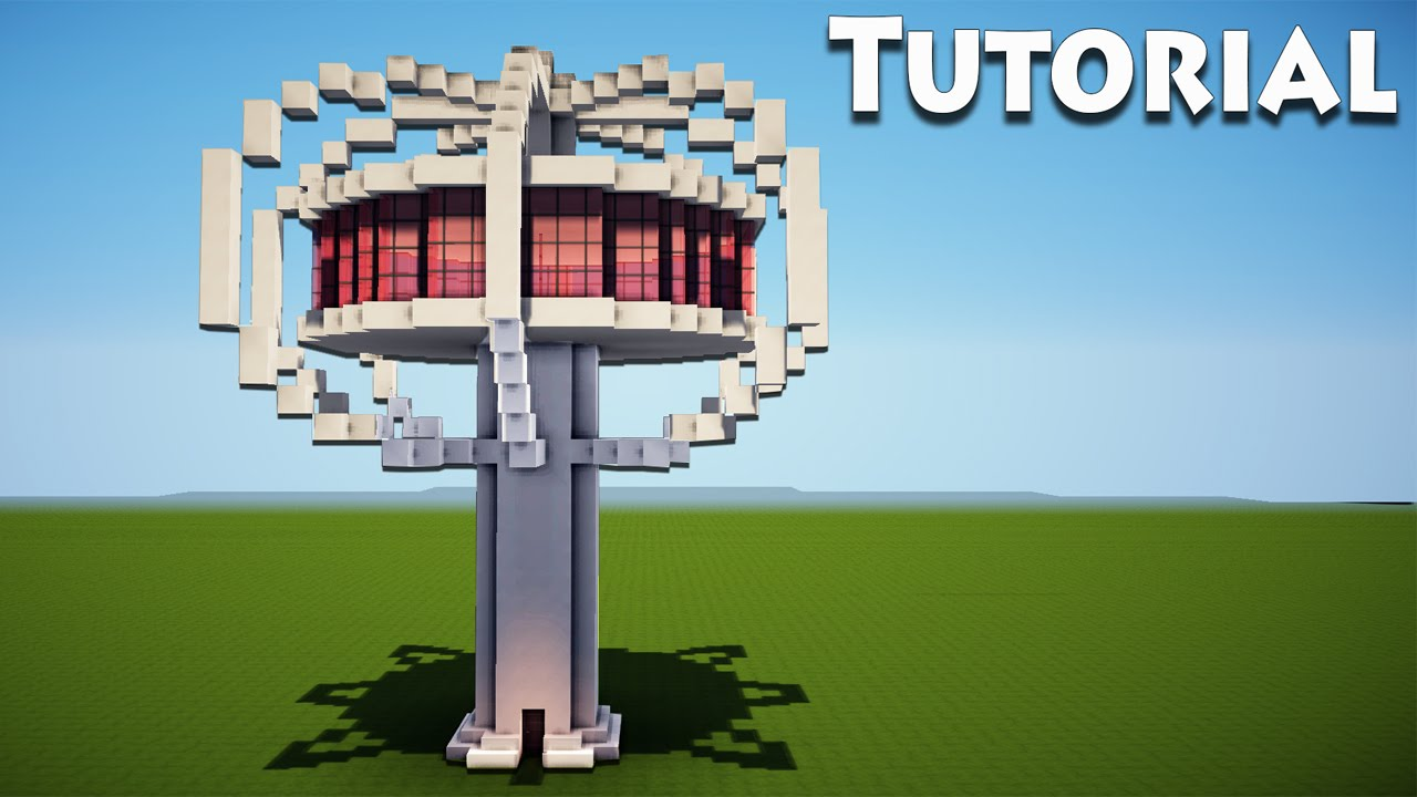 Minecraft: Modern Tree house Tutorial / How to Build a Cool House ...