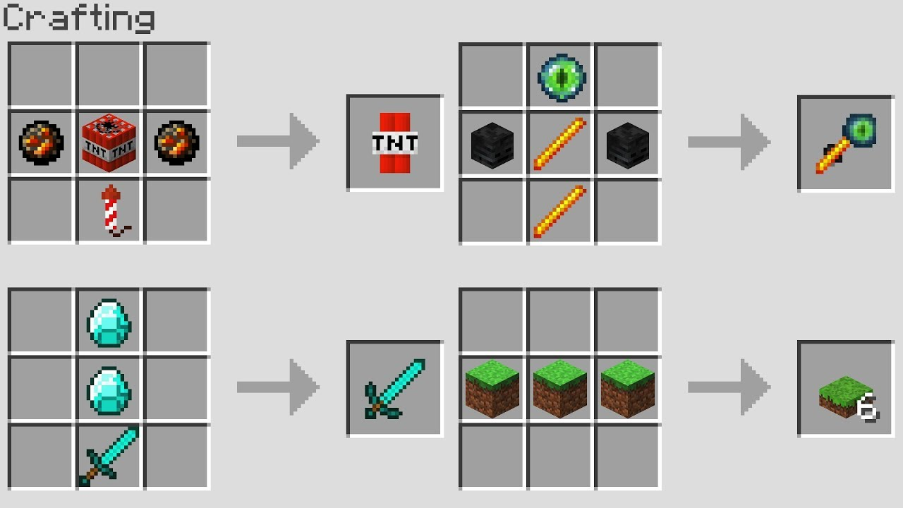 More new crafting recipes minecraft snapshot doovi - Minecraft crafting table recipes list ...