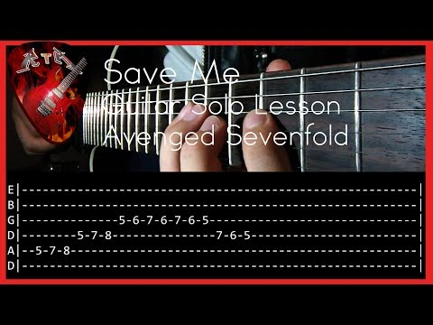 Save Me Guitar Solo Lesson - Avenged Sevenfold (with tabs)