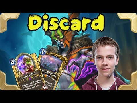 Thijs with a new Discard Quest warlock (Rastakhan's Rumble)