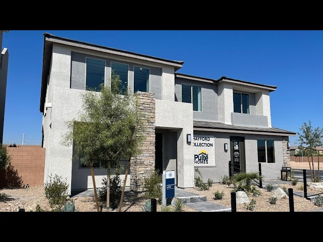 New Modern Homes For Sale Southwest Las Vegas | Hayford by Pulte Homes | Layton Home Tour $682k+