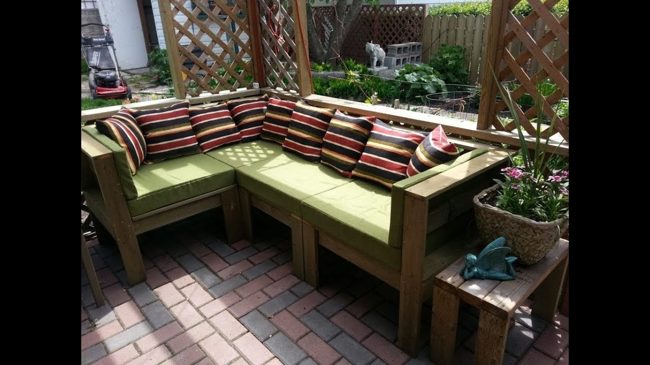 Homemade Patio Furniture  YouTube