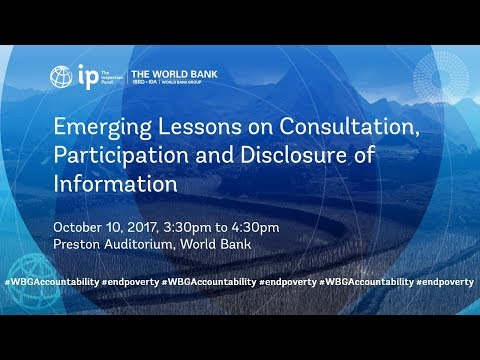 Emerging Lessons Series No. 4: Consultation, Participation & Disclosure of Information