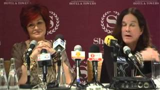Ozzy & Sharon Osbourne Press Conference in Israel (full)
