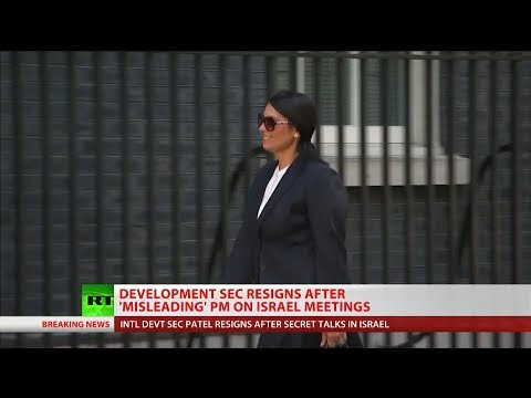 "Theresa May says ""it's right"" Priti Patel resigned"