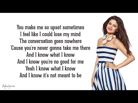 Selena Gomez & The Scene - My Dilemma 2.0 (Lyrics)