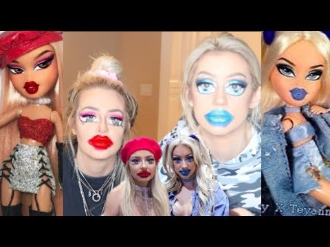 turning ourselves into Bratz Dolls (my worst video yet) (i'm SO sorry)