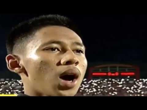 Penyokong Indonesia Memekak Ketika Lagu Negaraku Berkumandang