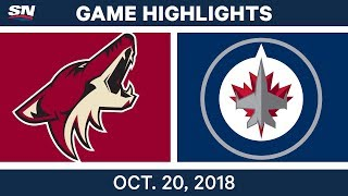 NHL Highlights | Coyotes vs. Jets - Oct. 20, 2018