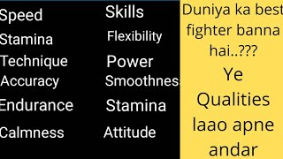 How to be best fighter in world | Best fighting qualities | Martial Warriors Academy