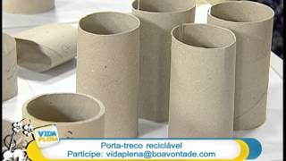 Artesanato – Porta-treco reciclável