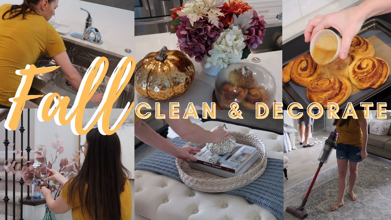 NEW! FALL 2021 CLEAN & DECORATE WITH ME | NEW HOME | FALL DECOR IDEAS | FALL DECORATE | HOMEMAKING