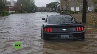 Huracán Florence: las calles de Carolina del Norte se inundan