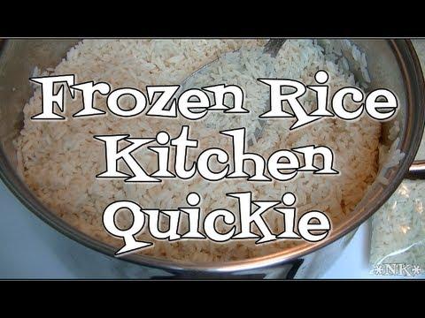 Frozen Rice!  Noreen's Kitchen Quickie!