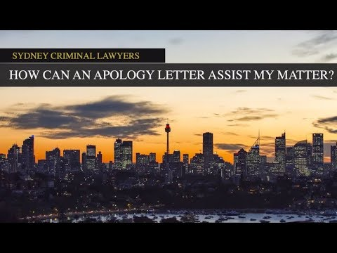 Letters Of Apology In Criminal Driving Cases Sydney Criminal