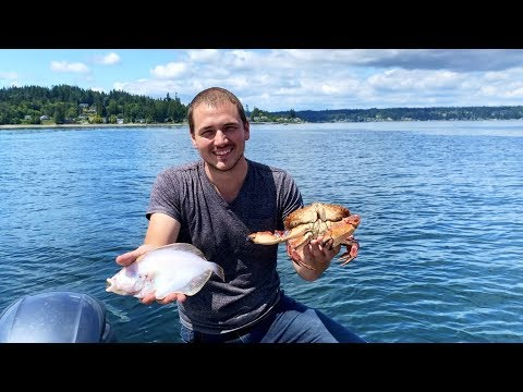 Fishing, Crabbing, & Cooking On The Boat! (Puget Sound)