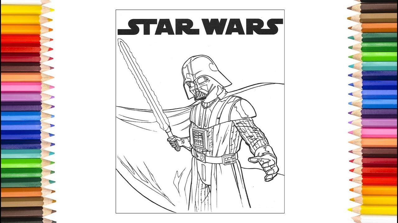 Star Wars Ausmalbilder - Malen Zeichnen Star Wars Kinder