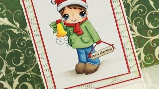 Caroling Sam - Copic Coloring & Card Tutorial