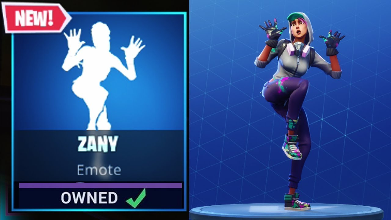 New Zany Emotedance Available Now All Characters Do Dance