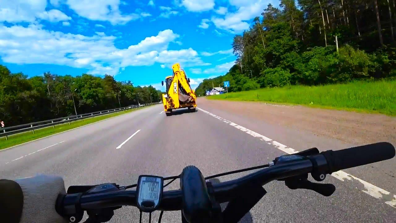 На велосипеде от первого лица за тихоходами. Подборка моих видео.