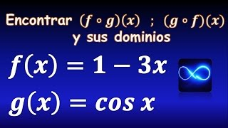Composición de funciones (Método fácil) y sus dominios