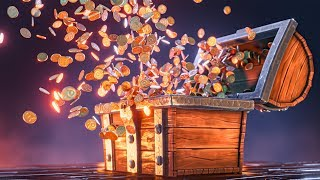 "Blender 2.8 ""Coin Explosion"" Animation I Bonus Lesson From Treasure Chest Tutorial Series"