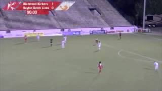 USL PRO Quarterfinals: Richmond Kickers 1:0 Dayton Dutch Lions Highlights August 24, 2013