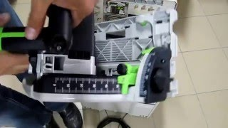 unpacking unboxing circular saw festool ts 55 rebq plus fs 561579 561580