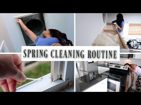 💙Glam Home💙 GETTING DOWN AND DIRTY | EXTREME SPRING CLEANING