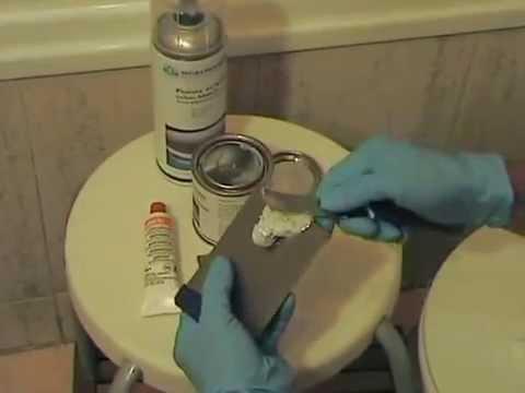Como reparar un desconchado en ba era youtube for Como reparar una gotera de la regadera
