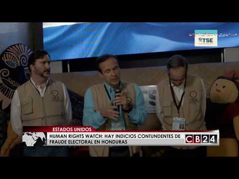 HRW: Hay indicios contundentes de fraude electoral en Honduras