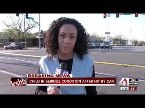 Police say car hits child at 31st and Prospect