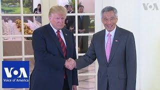 Trump Meets with Singapore PM Ahead of Summit with North Korea's Kim