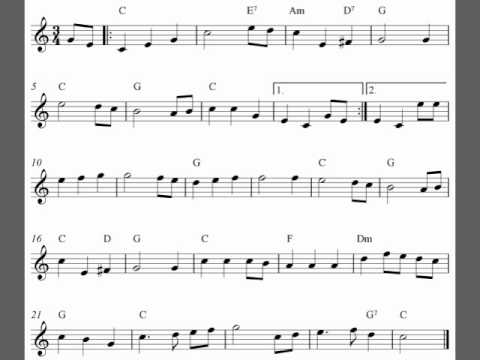 Free violin sheet music video - The Star-Spangled Banner