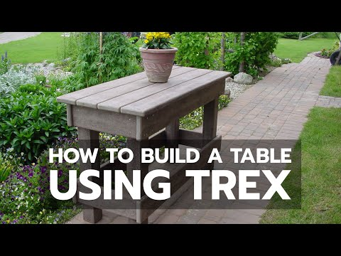 woodworking how to build a table using trex youtube rh youtube com Polywood Furniture Composite Deck Furniture