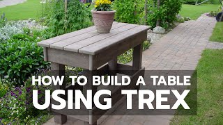 How To Build A Table Using Trex