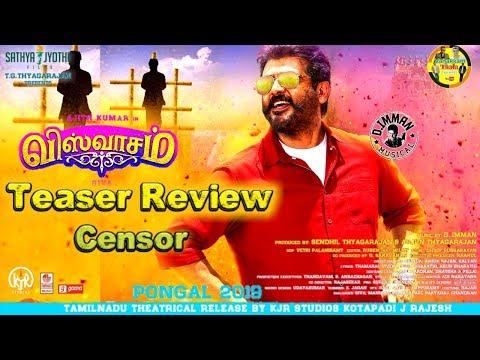 Viswasam Teaser Review From Censor Board | Umair Sandhu Gives Review For Viswasam Teaser