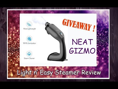 Neat Gizmo || Light n' Easy - Handeld Steam Cleaner and Garment Steamer || Review and Giveaway!