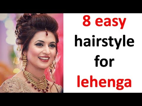 8 easy and simple hairstyles with lehenga || messy bun || new hairstyles || party hairstyles