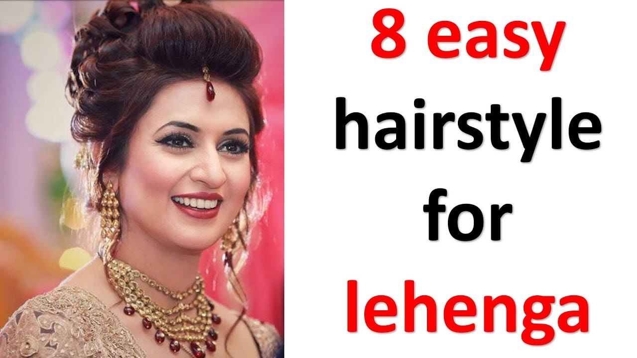 8 Easy And Simple Hairstyles With Lehenga Messy Bun New Hairstyles Party Hairstyles Youtube