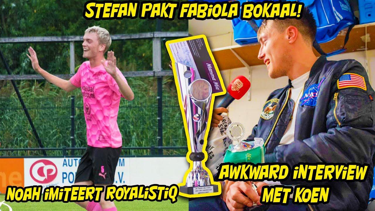 Stefan pakt Fabiola bokaal, Awkward interview Koen, Noah imiteert Royalistiq!