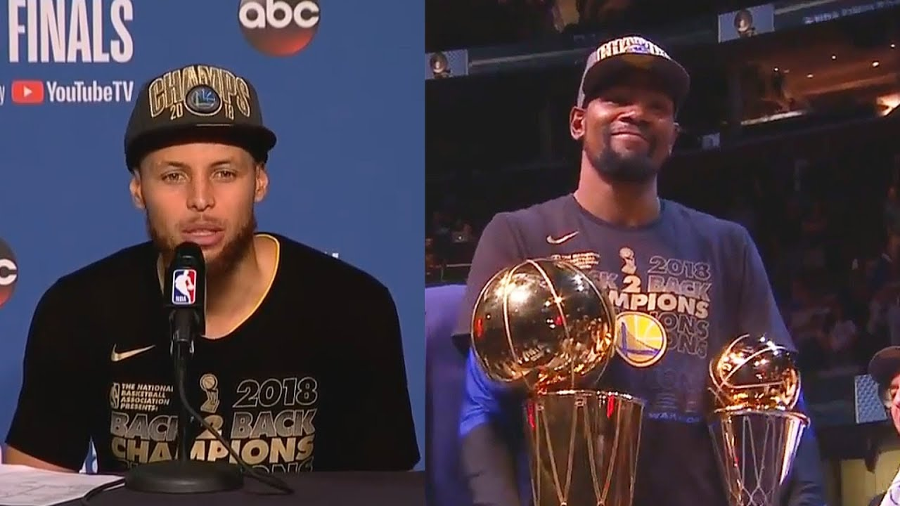 154932ecd901 Stephen Curry Responds To Never Winning Finals MVP and Reacts To Kevin Durant s  Finals MVP Award!