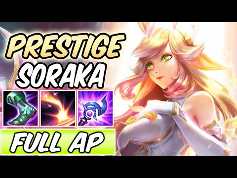 *NEW SKIN* PRESTIGE EDITION SORAKA MID STAR GUARDIAN FULL AP | New Build & Runes | League of Legends