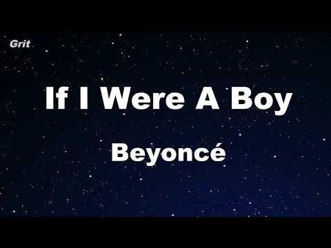 If I Were A Boy - Beyoncé Karaoke 【With Guide Melody】 Instrumental