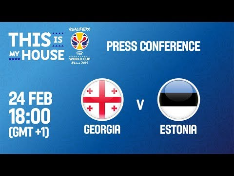 Georgia v Estonia - Press Conference
