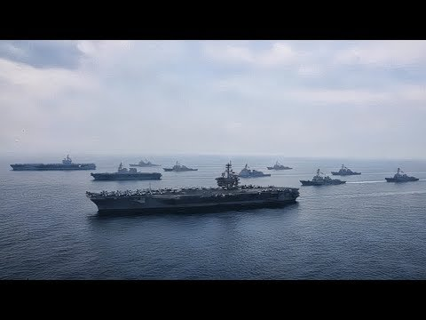 USS Carl Vinson & USS Ronald Reagan Carrier Strike Groups